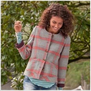 Sundance Catalog swan lake plaid wool jacket 4